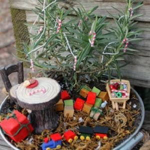 8 DIY Miniature Christmas Fairy Garden Ideas To Make In Minutes