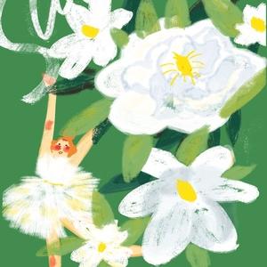 今天夏至  画了一张栀子花的图 实在是太喜欢栀子花的香味啦!!!